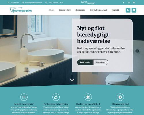 Netfront har designet og udviklet Badcompagniets hjemmeside.