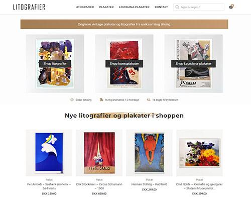 Netfront har designet og udviklet hjemmesiden Litografier.dk